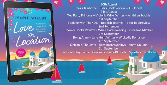Love on Location by Lynne Shelby blog  tour banner