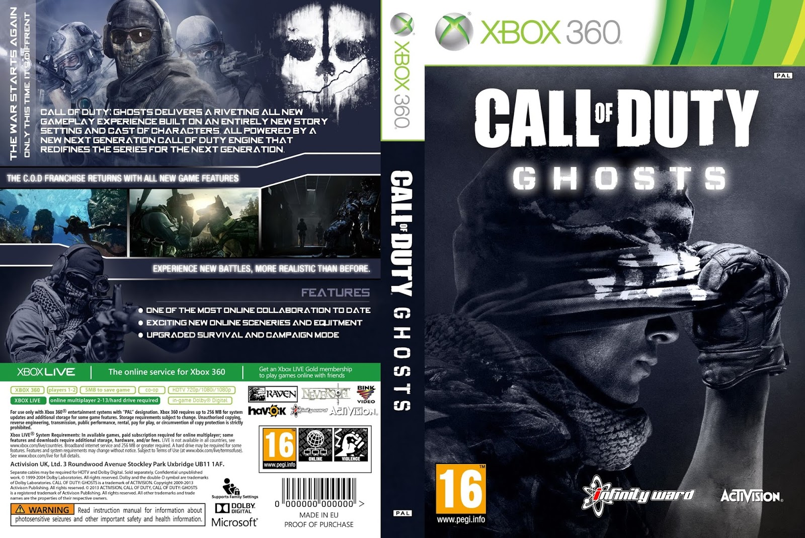 Call of Duty: Ghosts CD Key for Xbox One (Digital Download)