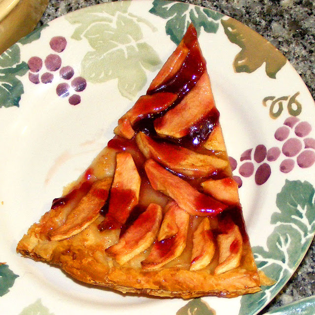 A slice of homemade tarte au vigneronne (winemaker tart). Photo by Loire Valley Time Travel.