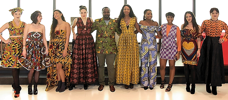 Gruppenfoto der Modeschau