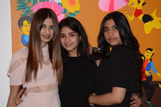 Arushi Kapoor, Atisha Pratap Singh and Ayesha Kapoor