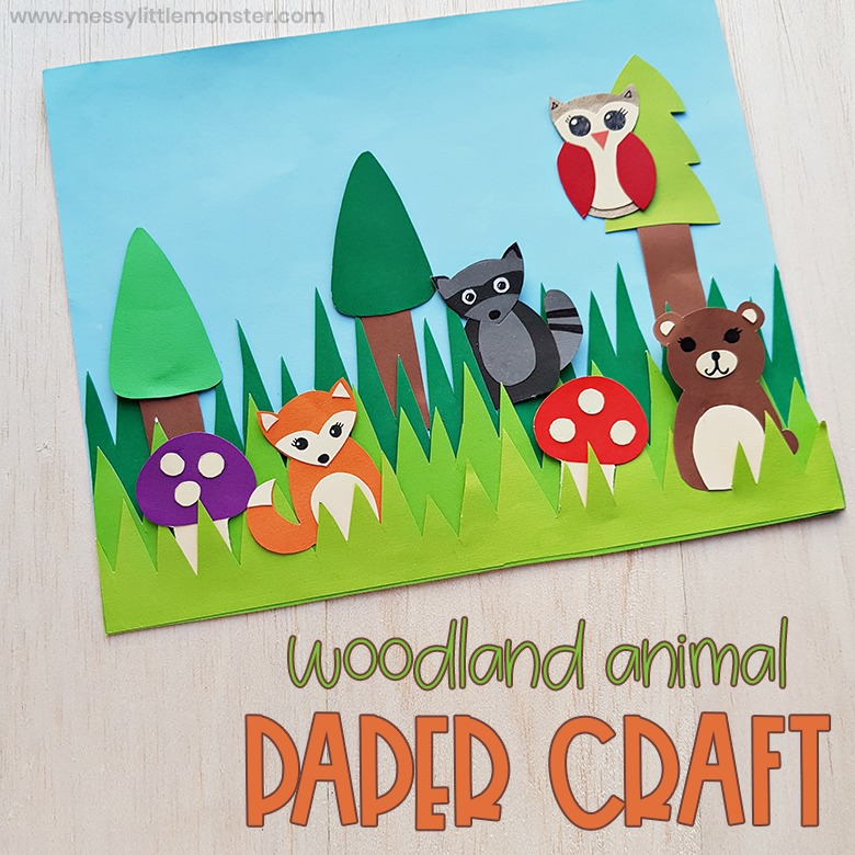woodland animal paper craft for kids