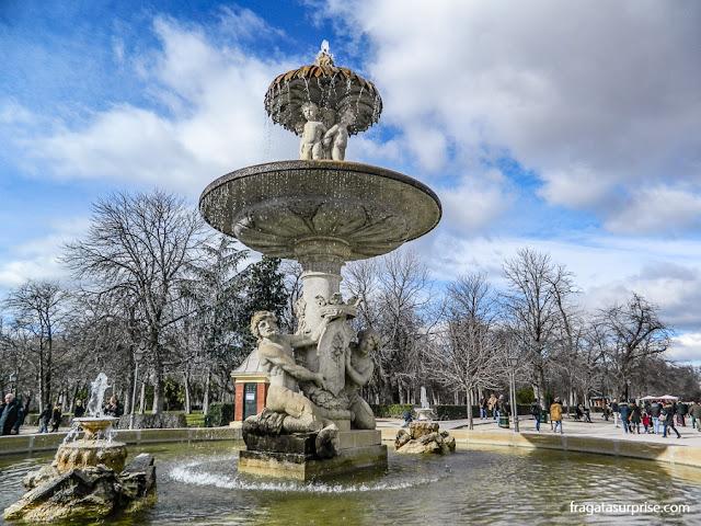 Fonte no Parque do Retiro, em Madri