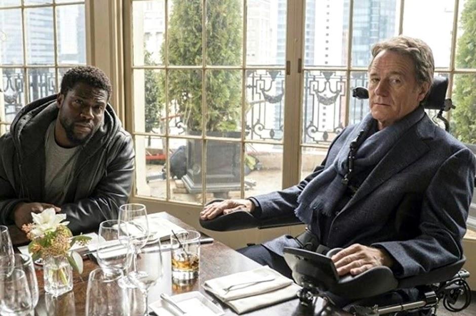 """Kevin Hart e Bryan Cranston na primeira imagem do remake de """"Intocáveis"""""""