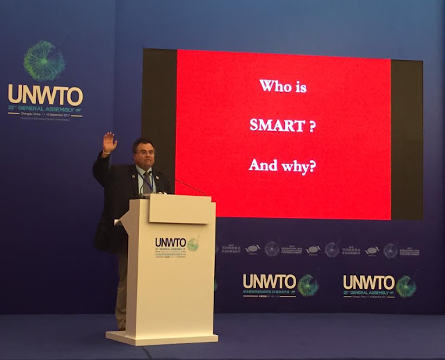 Professor Dimitrios Buhalis keynote on Smart Tourism at UNWTO General Assembly