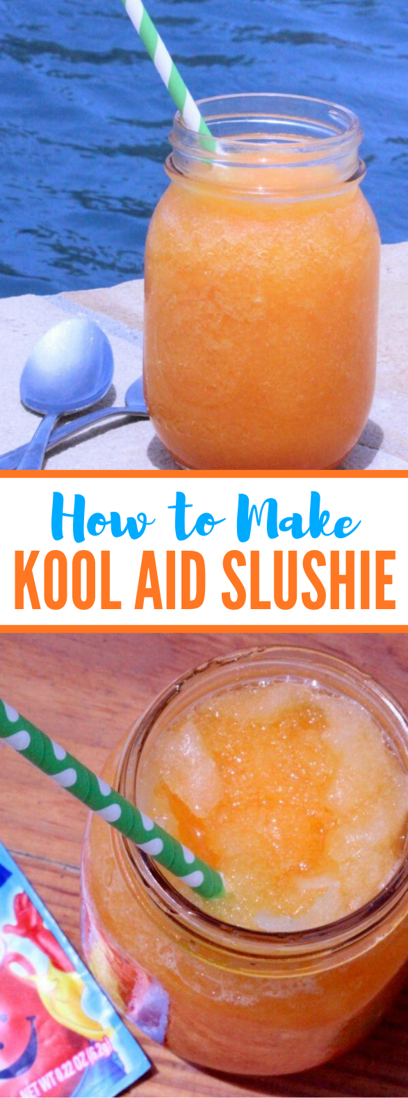 HOW TO MAKE A SLUSHIE WITH KOOL AID #drinks #summerday