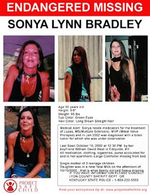 Sonya Bradley disappeared from her apartment in Eddyville, Kentucky in 2002 | Momma Loves True Crime