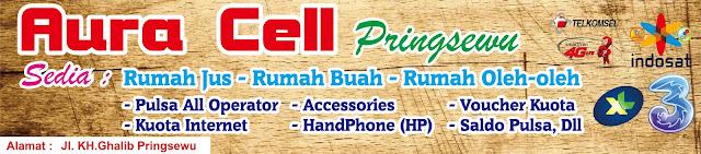 Design Banner Warung Konter Aura Cell Pringsewu
