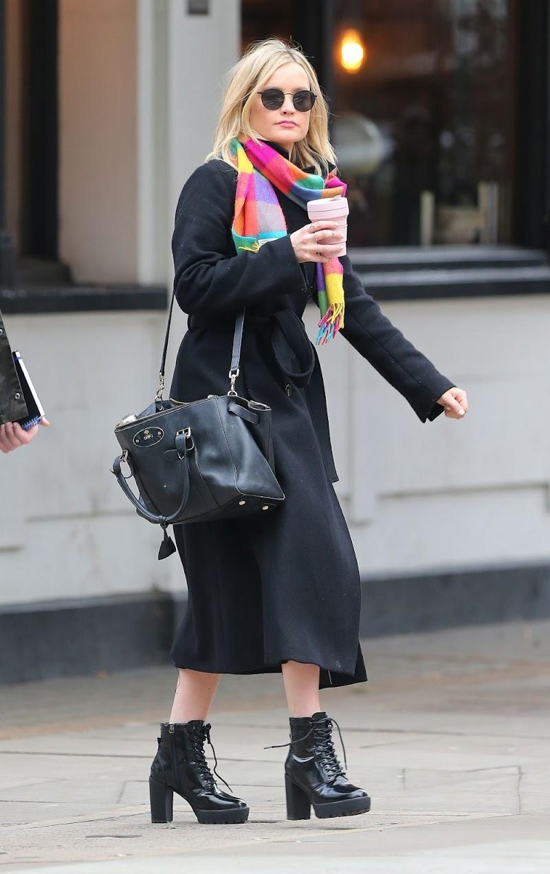 Laura Whitmore  Leaves BBC Studios in London 5 Jan-2020
