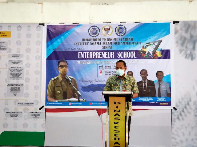 Dukung Program Pemkab Lahirkan Wirausaha Baru, Himaprodi Ekos IAIM Sinjai Gelar Entrepreneur School