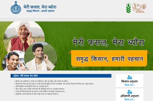 Meri fasal mera byora online registration haryana