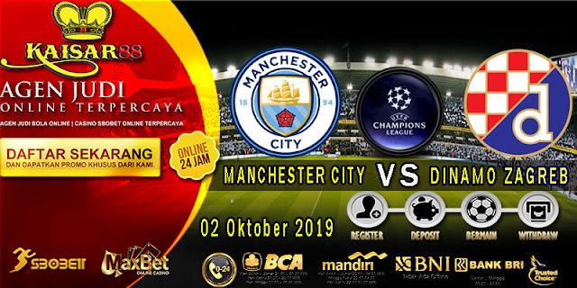 Prediksi Bola Terpercaya Liga Champions Manchester City vs Dinamo Zagreb 2 Oktober 2019
