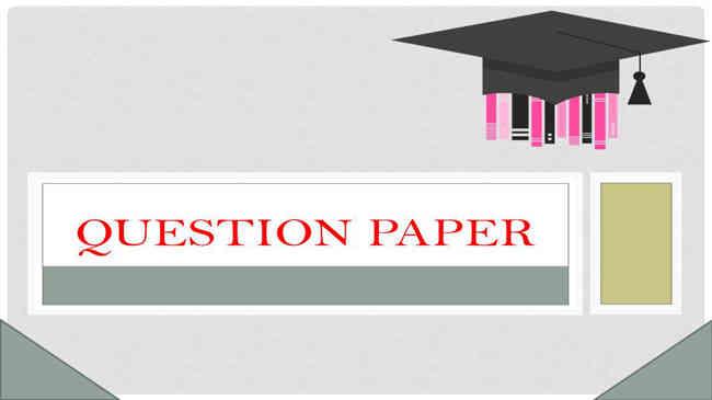 T M University B.Ed Entrance Question Paper