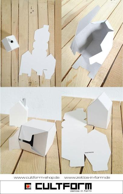 Die Hausbox von Cultform. Ein eindrucksvolles und doch einfaches DIY: kleine Geschenke individuell modern verpacken im aktuellen Watercolor-Trend: Hausbox BAstelbogen blanko, so funktioniert es