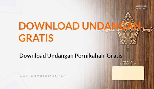 Download Template Undangan Pernikahan