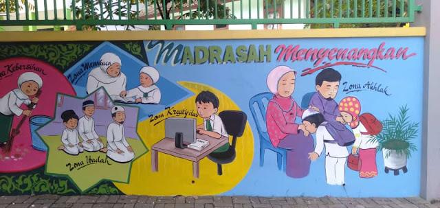 Mural di Sekolah Dasar MIN