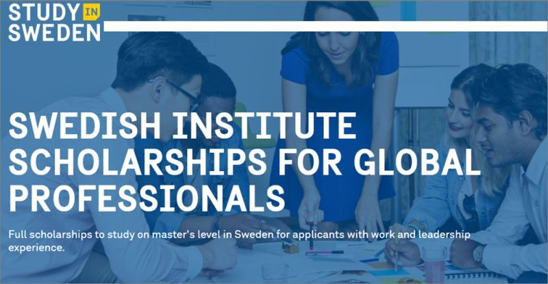Swedish Institute Scholarships 2021 for Global Professionals