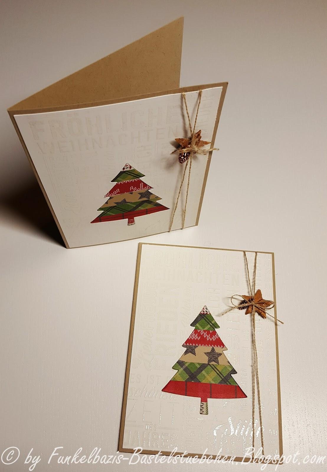 Edle Weihnachtskarten.Funkelbazis Bastelstubchen Schlichte Edle Weihnachtskarten