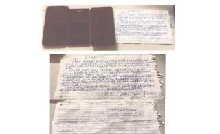 Veja o bilhete que irmão escreveu com ameaças a advogada Izadora Mourão