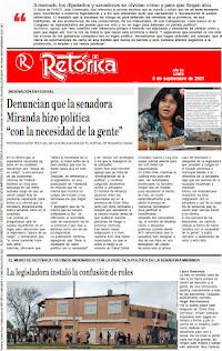 EDICIÓN IMPRESA DE RETÓRICA DEL 6-9-2021