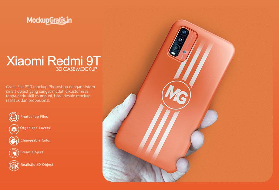 Mockup Case 3D Xiaomi Redmi 9T