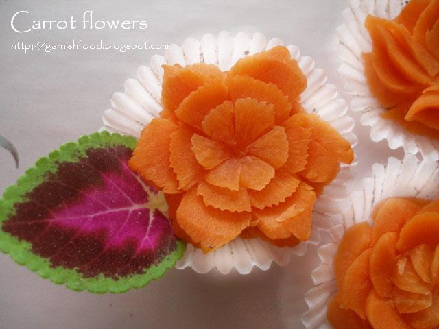 carrot carving flowers
