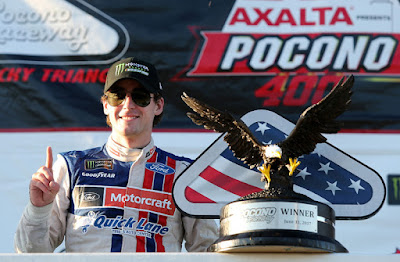 Ryan Blaney's first Monster Energy Cup Series victory earned the great Wood Brothers team its 99th Cup trophy.