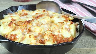 Cheesy Linguica and Potato Bake
