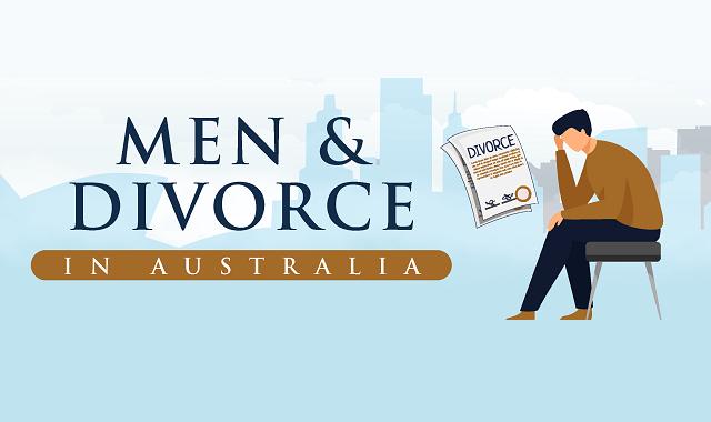 How do men in Australia deal with divorce?