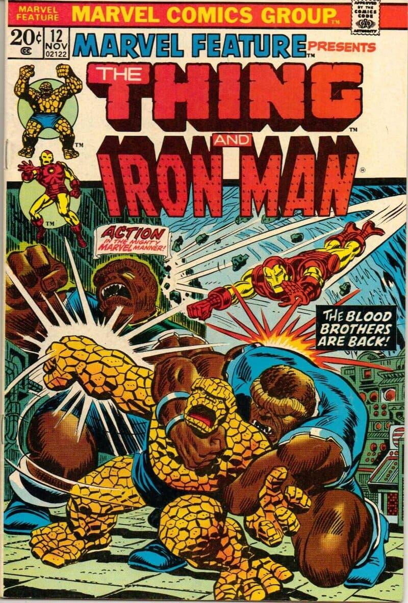 Marvel Feature #12, portada de Jim Starlin y John Romita