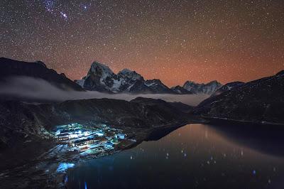 Star trail gunung