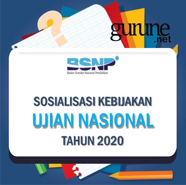 Download Slide File Sosialisasi Kebijakan Ujian Nasional atau UN Tahun 2020