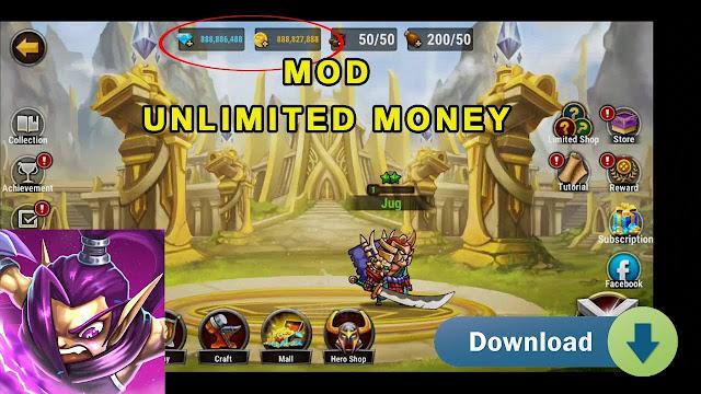Legend Heroes v1.0.50 Apk MOD Unlimited Coins /Gems