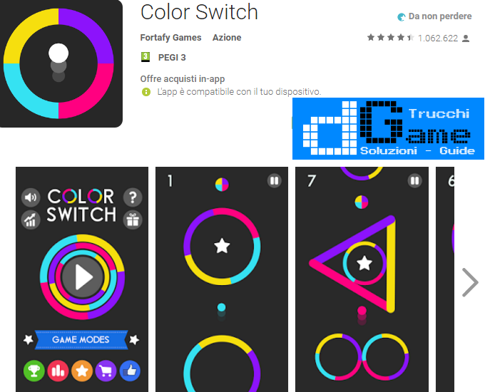 Trucchi Color Switch Mod Apk Android v5.5.0