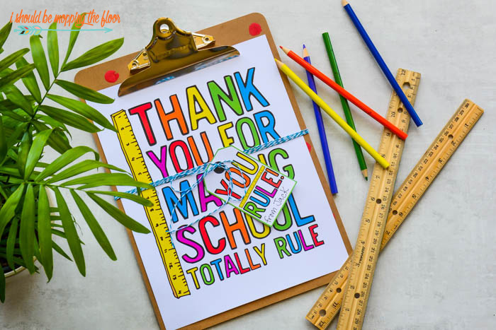 Teacher Thank You Printable