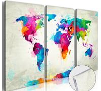 Spendo-Meno : gioca evinci gratis un quadro su vetro acrilico - World Map