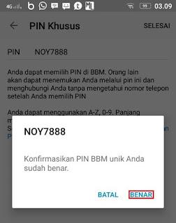 Konfirmasi PIN BBM Khusus