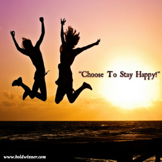 Choose to stay happy