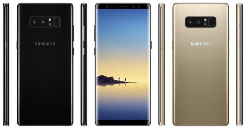 Imágenes del Samsung Galaxy Note8