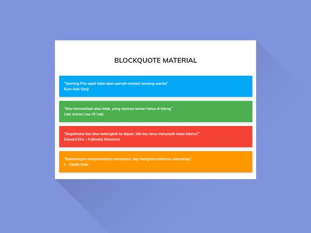 Cara Membuat Blockquote Material