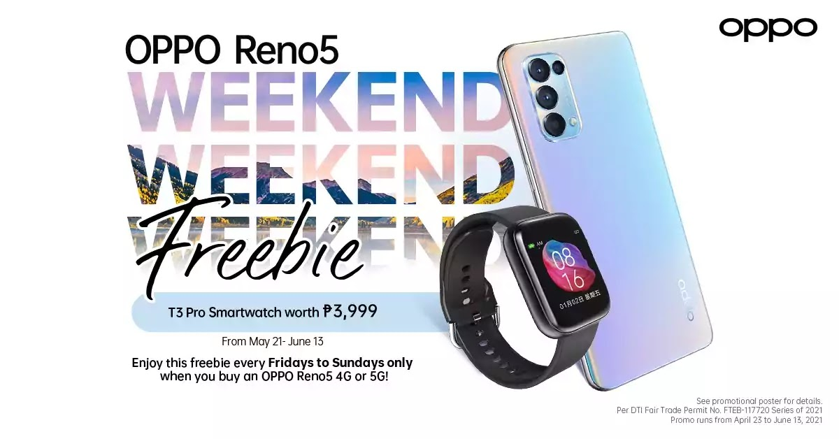 OPPO Reno5 with Free Watch Promo