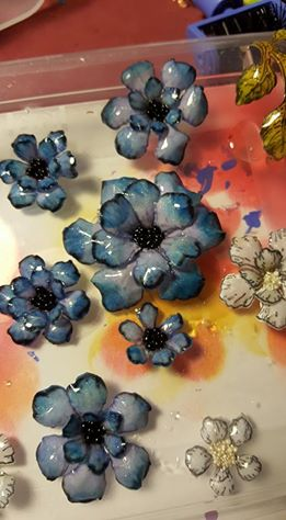 Deborhread resin and paper flowers basement studio almost they should be hardened up enough tonight to start the assembly i just have to figure out configuration and what i am going to attach it too possibly a mightylinksfo