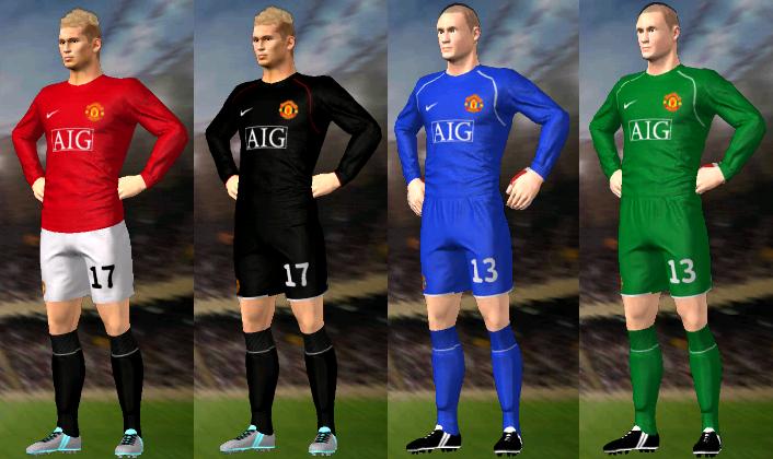 Kits/Uniformes Manchester United 2007/2008