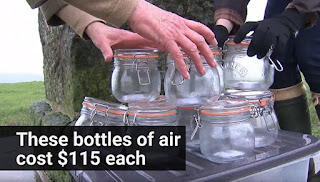 These bottles of fresh air cost $115 each.