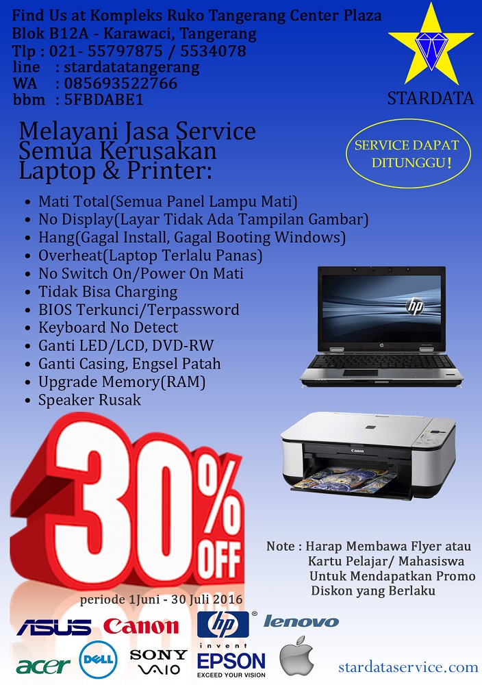 Promo Stardata Service Laptop dan Printer 1