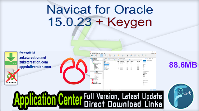 Navicat for Oracle 15.0.23 + Keygen