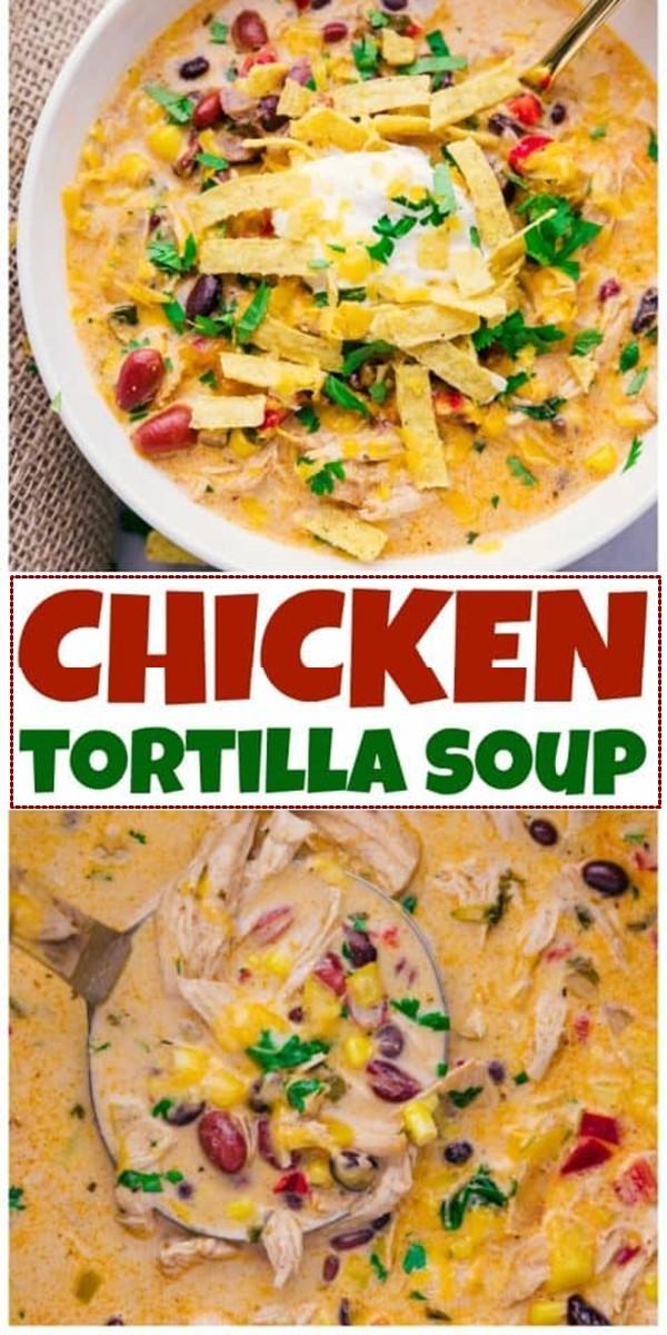 Chicken Tortilla Soup Crock Pot #souprecipes