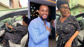 Nollywood Actor Alex Ekubo Buys His Mum A Toyota Venza To Celebrate His Chieftaincy