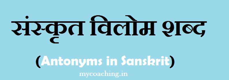 Vilom Shabd In Sanskrit