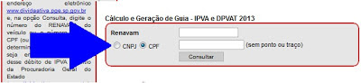 Consultando o IPVA